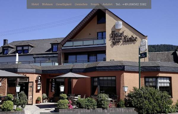 Vorschau von hotelzurlinde-longuich.de, Hotel zur Linde