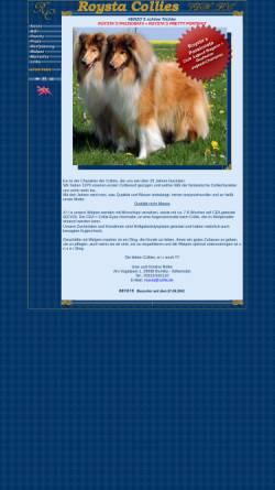 Vorschau der mobilen Webseite www.roysta.collie.de, Roysta-Collies