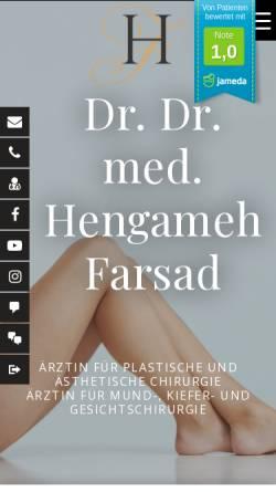 Vorschau der mobilen Webseite www.4-everyoung.eu, Dr. med. Dr. med. dent. Hengameh Farsad