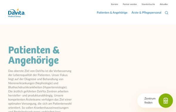 Vorschau von www.davita.de, Davita - Medizinische Produkte GmbH & Co. KG