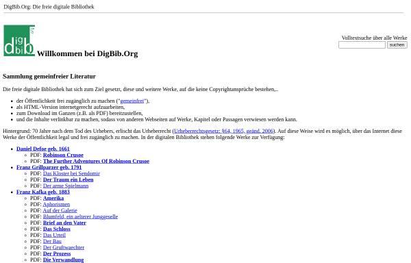 Vorschau von digbib.org, Digbib - die freie digitale Bibliothek