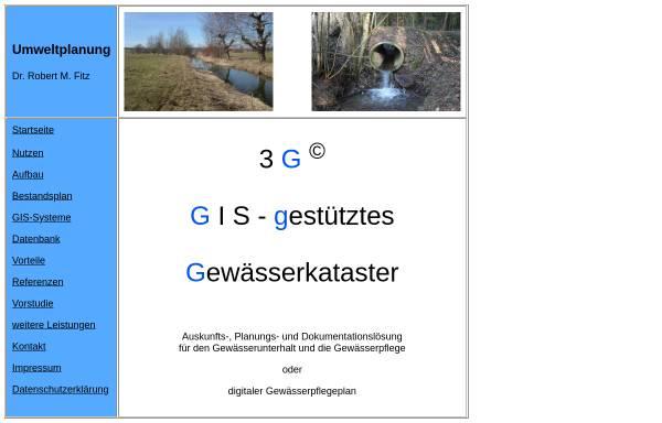 Vorschau von www.gewaesserkataster.de, Umweltplanung Dr. Robert M. Fitz