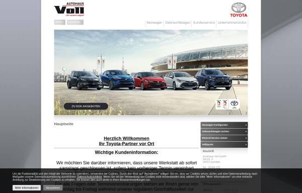 Vorschau von www.autohaus-voll.de, Autohaus Voll