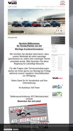 Vorschau der mobilen Webseite www.autohaus-voll.de, Autohaus Voll