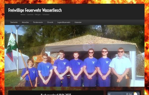 Vorschau von www.feuerwehr-wasserliesch.de, Freiwillige Feuerwehr Wasserliesch