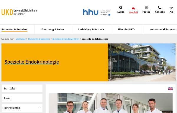 Vorschau von www.uniklinik-duesseldorf.de, Abteilung für Endokrinologie der Universität
