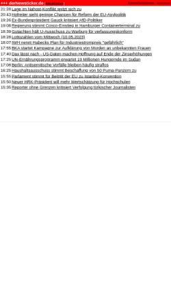Vorschau der mobilen Webseite www.dernewsticker.de, DerNewsticker.de