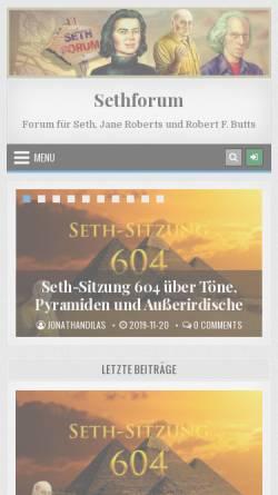Vorschau der mobilen Webseite www.sethforum.de, Sethforum