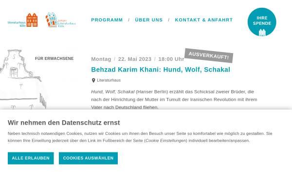 Vorschau von www.literaturhaus-koeln.de, Literaturhaus Köln e.V.