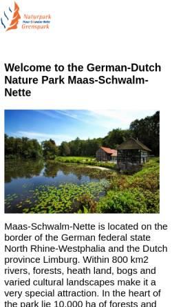 Vorschau der mobilen Webseite www.grenspark-msn.nl, Naturpark Maas-Schwalm-Nette