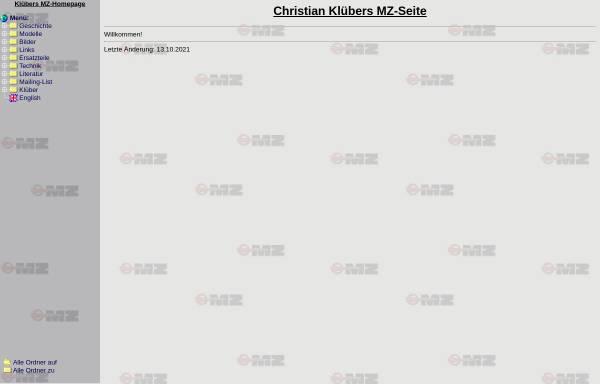 Vorschau von www.mz.cx, Christian Klübers MZ Homepage