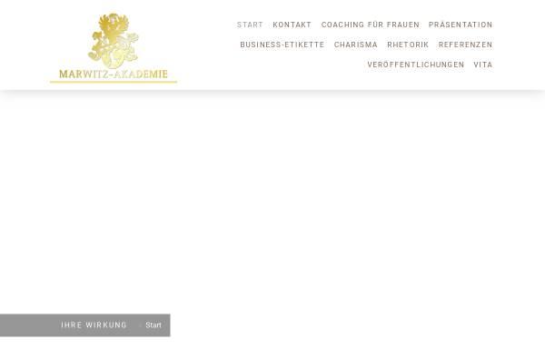 Vorschau von marwitz-akademie.de, SfU Schule für Umgangsformen - Friederike von der Marwitz