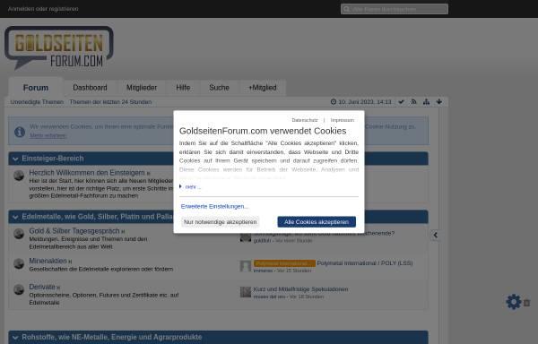 Vorschau von www.goldseiten-forum.de, GoldSeiten-Forum