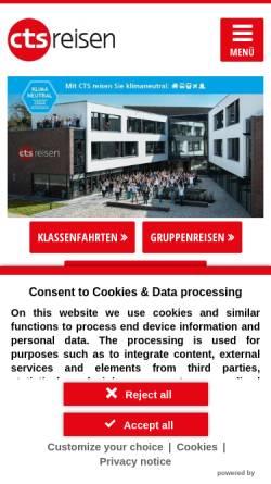 Vorschau der mobilen Webseite www.cts-reisen.de, CTS Gruppen- und Studienreisen GmbH