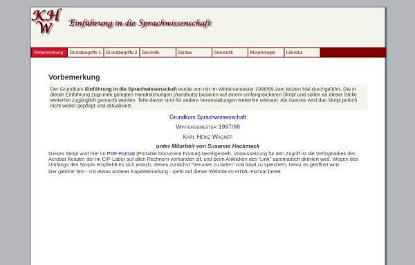 Vorschau von www.fb10.uni-bremen.de, Materialien zur Einführung in die Sprachwissenschaft
