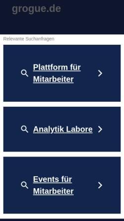Vorschau der mobilen Webseite www.grogue.de, Grogue Schnapsbrennerei