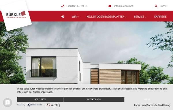 Vorschau von www.buerkle-fertigkeller.de, Betonwerk Bürkle GmbH & Co.KG