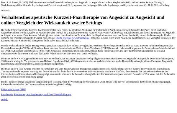 Vorschau von wwwuser.gwdg.de, Wirksamkeit von Paartherapie online