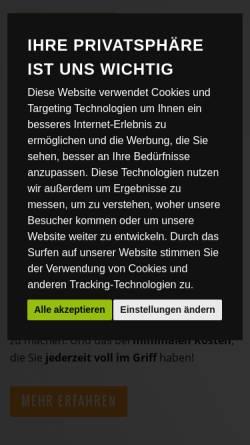 Vorschau der mobilen Webseite www.hostnet.de, hostNET Medien GmbH