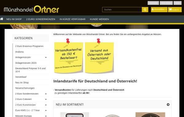 Vorschau von www.muenzhandel-ortner.de, Münzhandel Ortner, Hubert Ortner