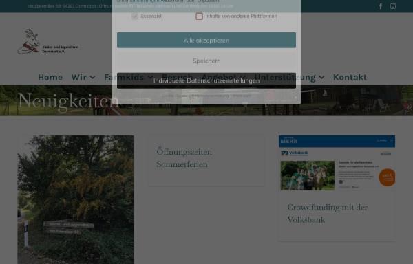 Vorschau von www.jugendfarm-darmstadt.de, Kinder - und Jugendfarm Darmstadt e.V.