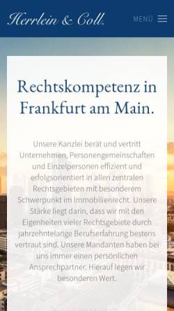 Vorschau der mobilen Webseite www.herecoll.de, Herrlein & Coll., Rechtsanwälte