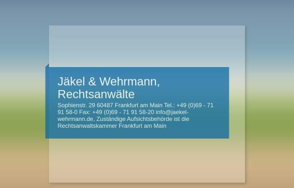 Vorschau von www.jaekel-wehrmann.de, Jäkel & Wehrmann, Rechtsanwälte