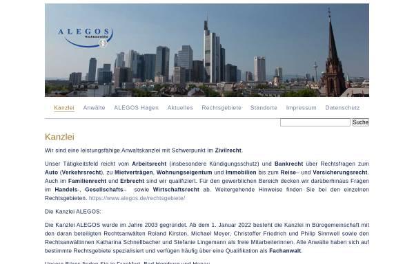 Vorschau von www.alegos.de, Kirsten, Roland, Alegos Rechtsanwälte