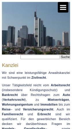 Vorschau der mobilen Webseite www.alegos.de, Kirsten, Roland, Alegos Rechtsanwälte