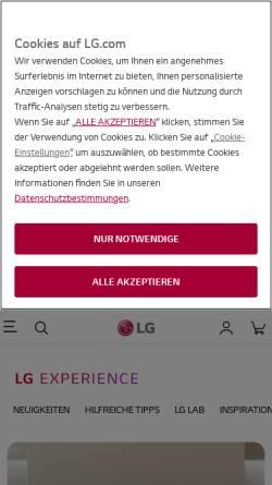 Vorschau der mobilen Webseite www.lgblog.de, LG Blog