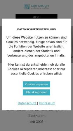 Vorschau der mobilen Webseite saje-design.de, SaJe Design