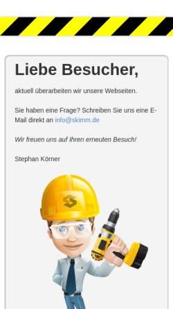 Vorschau der mobilen Webseite www.skimm.org, SKIMM - Stephan Körner - Grafik- und Medien-Produktion
