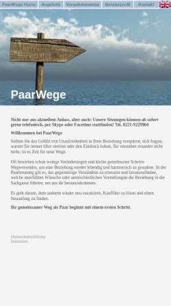 Vorschau der mobilen Webseite www.paarwege.de, PaarWege