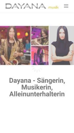 Vorschau der mobilen Webseite dayanamusik.ch, Dayana