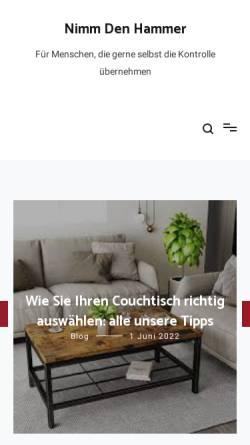Vorschau der mobilen Webseite nimm-den-hammer.de, Nimm den Hammer