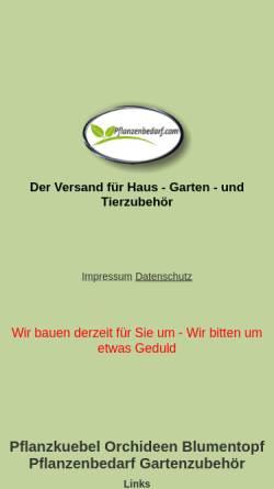Vorschau der mobilen Webseite www.pflanzenbedarf.com, Nohlex GmbH