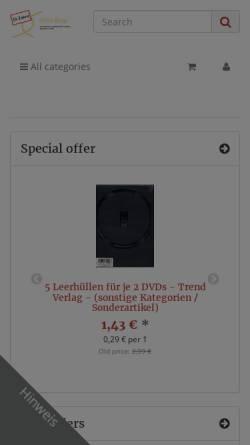 Vorschau der mobilen Webseite shop.dith-software.de, DITH-Shop, Dipl.-Inform. Thomas Huhn