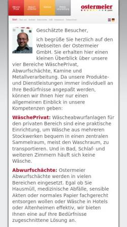 Vorschau der mobilen Webseite www.ostermeier-gmbh.com, Klaus Ostermeier GmbH