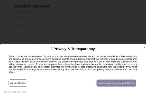 Checkliste Hauskauf: Bauen und Renovieren, Zuhause checklistehauskauf.de