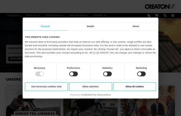 Vorschau von www.creaton.de, Dach und Fassade