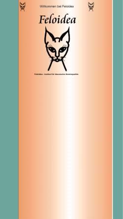 Vorschau der mobilen Webseite www.feloidea.de, Feloidea Fernstudium für Homöopathie