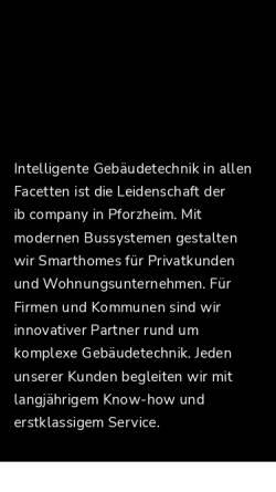 Vorschau der mobilen Webseite www.ib-company.de, Ib Company GmbH