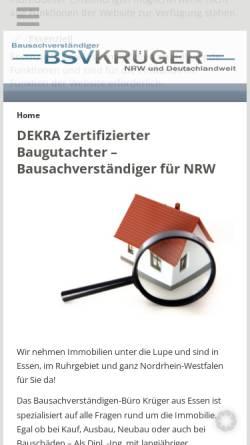 Vorschau der mobilen Webseite www.bsv-krueger.de, Krüger, Frank