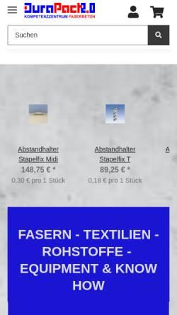 Vorschau der mobilen Webseite www.durapact.de, Durapact Gesellschaft für Faserbetontechnologie mbH