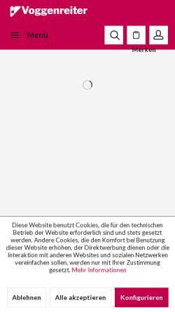 Vorschau der mobilen Webseite www.voggenreiter.de, Voggenreiter Verlag GmbH