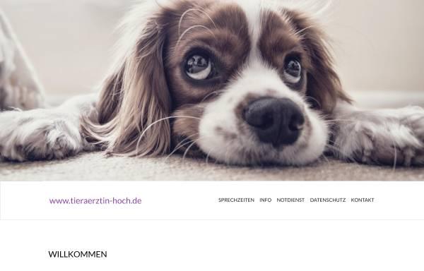Vorschau von www.tieraerztin-hoch.de, Dipl. med. vet. Heike Hoch