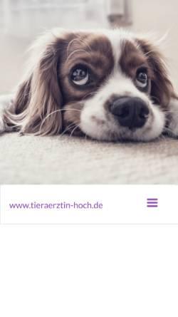 Vorschau der mobilen Webseite www.tieraerztin-hoch.de, Dipl. med. vet. Heike Hoch