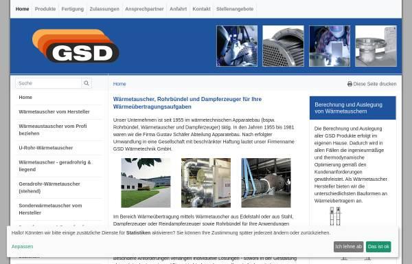Vorschau von www.gsdwaermetechnik.de, GSD Wärmetechnik GmbH