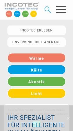 Vorschau der mobilen Webseite www.incotec-gmbh.de, Incotec GmbH & Co. KG