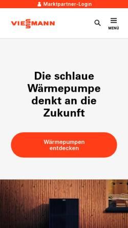 Vorschau der mobilen Webseite www.viessmann.de, Viessmann Werke GmbH & Co. KG
